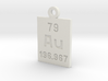 Au Periodic Pendant 3d printed