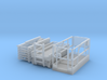 Scissor Lift 1-87 HO Scale Parted 3d printed