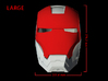 Iron Man Helmet - Face Shield (Large) 3 of 4 3d printed CG Render (Front Measurements.  FaceShield with full helmet)