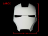 Iron Man Helmet - Face Shield (Large) 3 of 4 3d printed CG Render (Front Measurements)