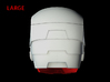 Iron Man Helmet - Jaw (Large) 4 of 4 3d printed CG Render (Back.  Jaw with full helmet)