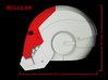 Iron Man Helmet Face Shield (Regular) Part 2 of 3 3d printed CG Render (Side Measurements.  Face shield with full helmet)