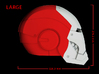 Iron Man Helmet - Head Right Side (Large) 1 of 4 3d printed CG Render (Side measurements, Head Right with Full Helmet)