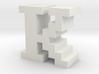 """K"" inch size NES style pixel art font block 3d printed ""K"" inch size NES style pixel art font block"