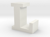 """L"" inch size NES style pixel art font block 3d printed"
