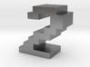 """2"" inch size NES style pixel art font block 3d printed"