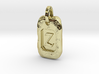 Old Gold Nugget Pendant Z 3d printed