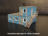 Staircase left, to N scale office container 3d printed