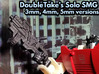 DoubleTake's Solo SMG (Multisize) 3d printed 5mm version, in black professional