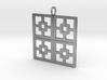 Breeze Blocks Pendant  in Silver 3d printed