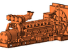 1/64th large V-16 marine or mill machinery engine 3d printed