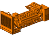 1/87th v-16 Diesel electric generator cabinet 3d printed Shown mounted on engine