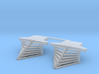 HO scale old time locomotive 2pc horizontal stave 3d printed