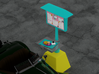 50's Era Drive-In Menu Stand 3d printed Render - car model, tray with food, and menu graphic not included