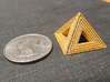 Pyramid 3d printed Quarter for scale