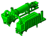 1/50th Asphalt Plant Baghouse Filter Trailer 3d printed As shown with vent and drum mixer