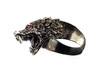 Hungry Wolf Ring 3d printed