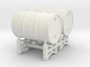 Drum rack with 2 drums - 1:50 3d printed
