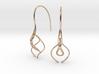 Ava earring pair 3d printed