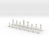 Scrollsaw/Bandsaw Chess Pieces (set) 3d printed