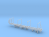 Timber Trailer With Wheels Separate 1-87 HO Scale 3d printed
