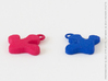 Treefrog Foot  Pendant 3d printed Pink + Blue Strong & Flexible Polished