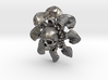 Skull Flower Bone Pendant 3d printed
