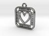 Pendant - Geek Love 3d printed