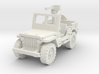 Jeep willys 30 cal (window up) 1/72 3d printed
