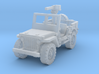 Jeep willys 30 cal (window up) 1/285 3d printed