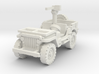 Jeep Willys 30 cal (window down) 1/100 3d printed