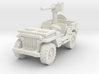 Jeep Willys 50 cal (window down) 1/72 3d printed