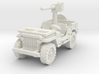 Jeep Willys 50 cal (window down) 1/56 3d printed