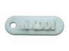 MADDI Personalized keychain embossed letters 3d printed