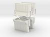 Interlocking traffic barrier (x4) 1/43 3d printed