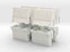 Interlocking traffic barrier (x8) 1/56 3d printed