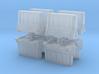 Interlocking traffic barrier (x8) 1/160 3d printed