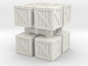 Wood crate prop (x8) 1/100 3d printed