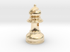 MILOSAURUS Jewelry Staunton Chess Bishop Pendant 3d printed