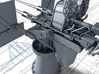 1/72 Royal Navy Twin 20mm Oerlikon MKIX x1 3d printed 3d render showing product detail