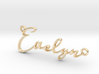 Evelyn First Name Pendant 3d printed