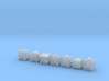 Heads for Trainbot Kreons (Set 2 of 2) 3d printed