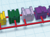 Heads for Terrorcon Kreons (Set 2 of 2) 3d printed Design in color