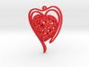 Voronoi Heart + Heart Earring (002) 3d printed