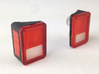 AJ10019 Rear lights JK 3d printed Parts shown assembled and painted