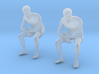 Chinese Man Sitting Leaning Forward 3d printed