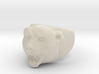 Grizzly bear ring 3d printed
