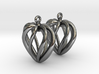 Heart Cage Earrings 3d printed