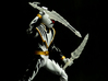 Dinothunder White Accessory - Drago Sword 3d printed Smooth Fine Detail Plastic Pictured