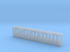 4mm scale GWR S5 third 4 compartment carriage side 3d printed